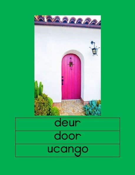 Afrikaans Ons Huis Muurkaarte