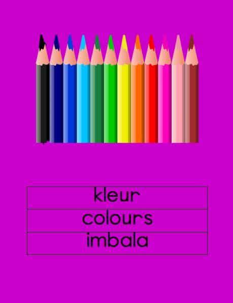 Afrikaans Kleur Muurkaarte