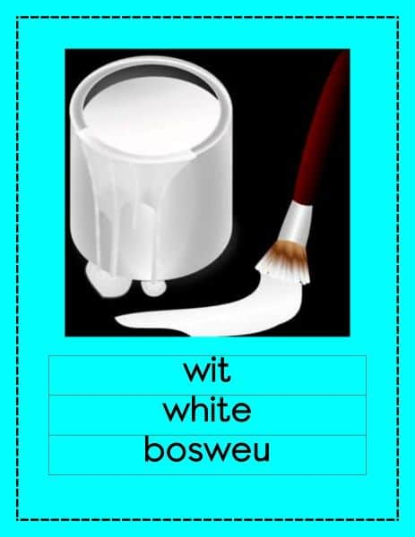 Setswana Kleur Muurkaarte