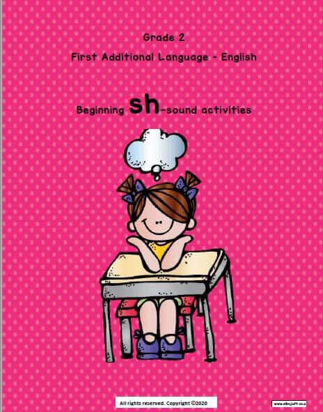 Gr 2 Eng FAL sh- sound Activities