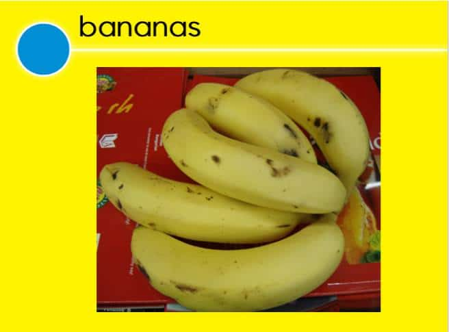 Fruit and Vegetables Bananas